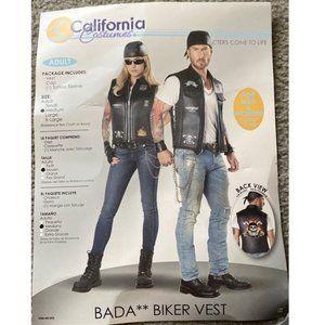 California Costumes Biker Vest Sz Medium